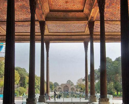 Chehel Sotun Palace is one of the UNESCO world heritage sites in isfahan